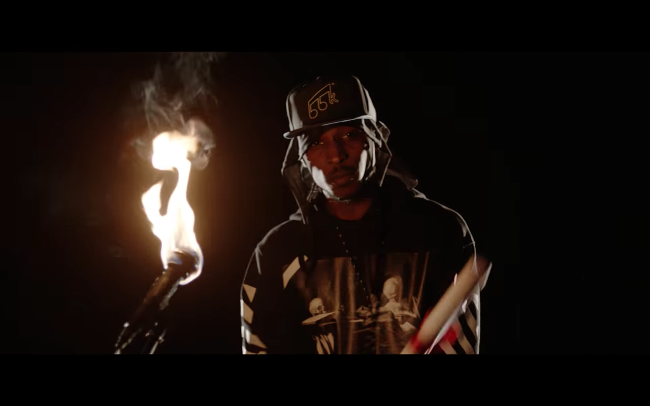"UK Rapper JME Flames the Mic – Literally – in ""Man Don't Care"""