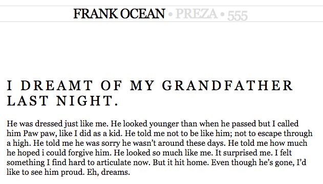 frank ocean family