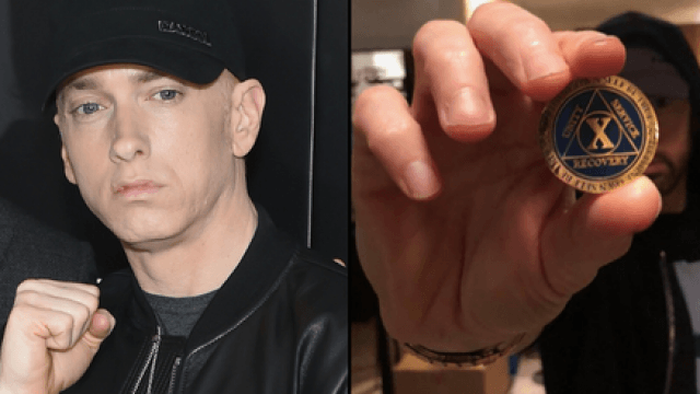 eminem sobriety addiction