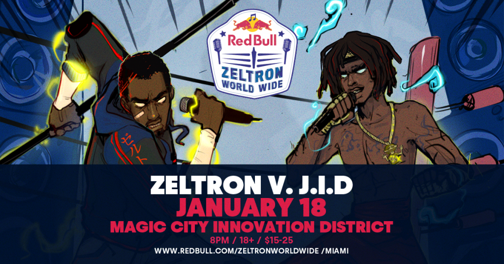 UPCOMING EVENT: Denzel Curry vs. JID in Miami (Red Bull Zeltron World Wide Tour)