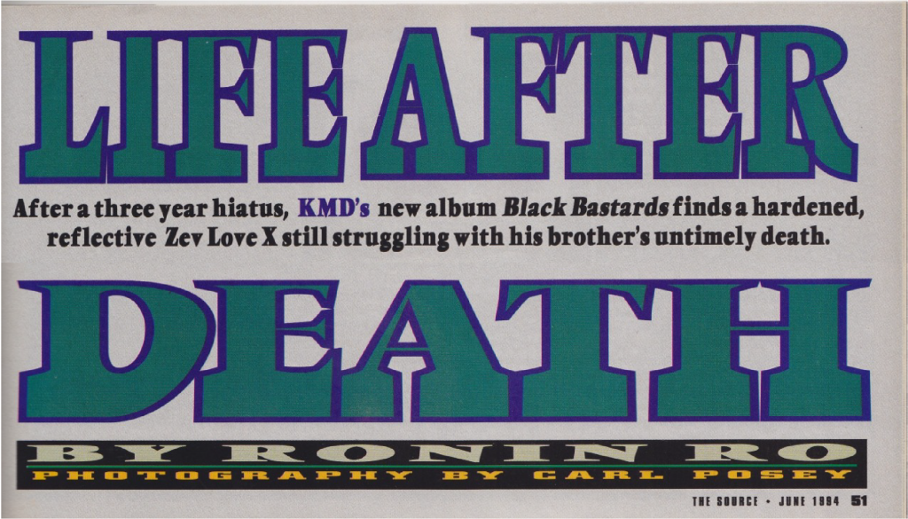 KMD, Zev Love X, DJ Subroc, Black Bastards