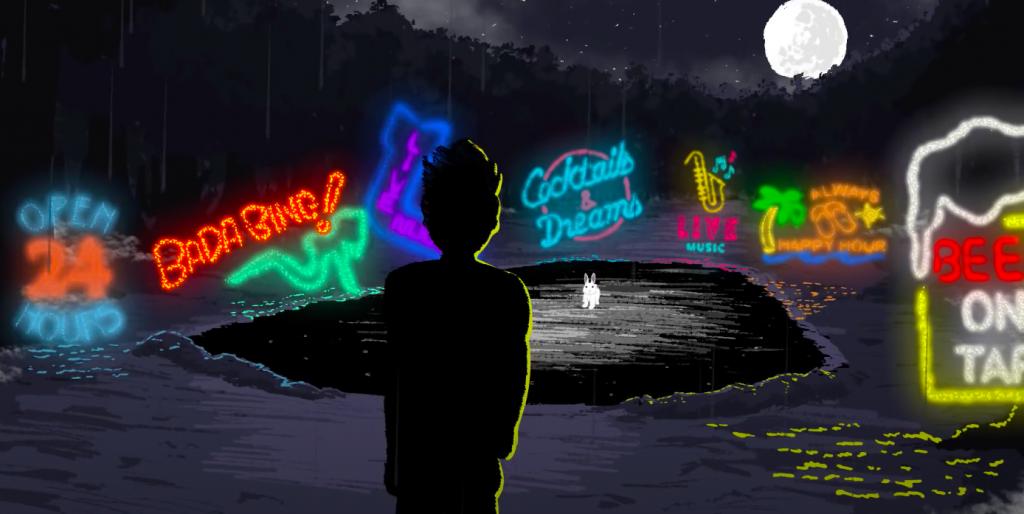 Adam Wright, Thundercat, Rabbot Ho, Drunk, Animated Music Video