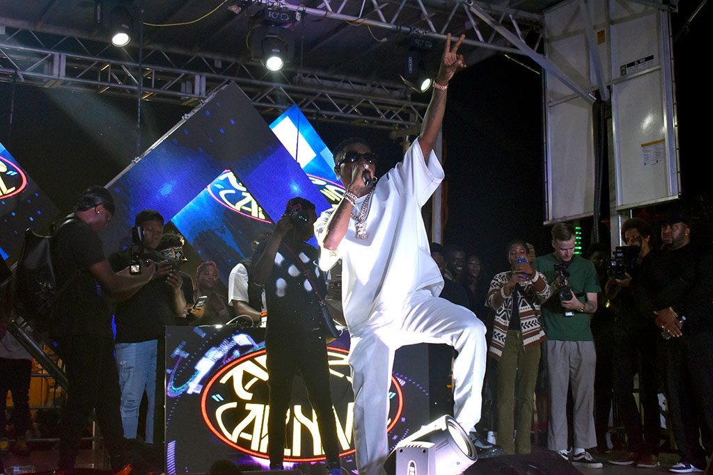 WizKid takes the stage at Afro Carnival.